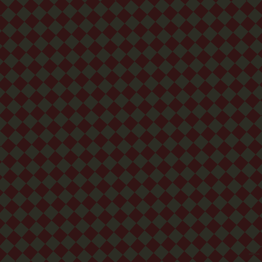 48/138 degree angle diagonal checkered chequered squares checker pattern checkers background, 35 pixel square size, , Seal Brown and Green Waterloo checkers chequered checkered squares seamless tileable