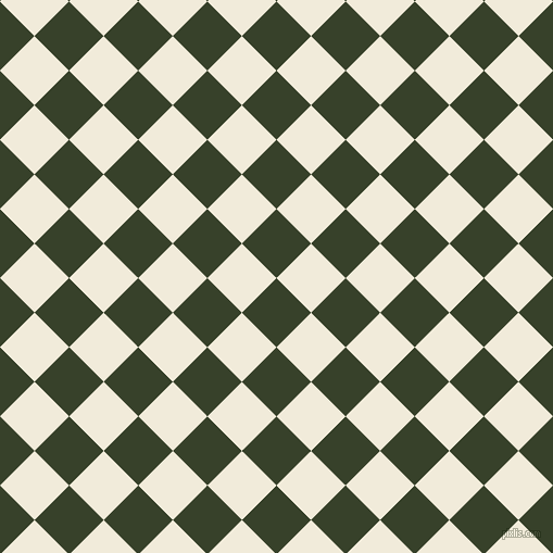 45/135 degree angle diagonal checkered chequered squares checker pattern checkers background, 45 pixel squares size, , Seaweed and Buttery White checkers chequered checkered squares seamless tileable