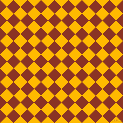 45/135 degree angle diagonal checkered chequered squares checker pattern checkers background, 37 pixel squares size, , Selective Yellow and Burnt Umber checkers chequered checkered squares seamless tileable