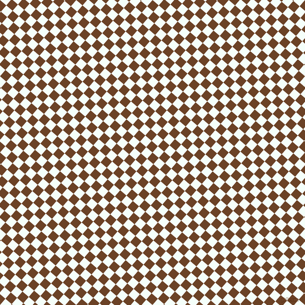 49/139 degree angle diagonal checkered chequered squares checker pattern checkers background, 17 pixel squares size, , Semi-Sweet Chocolate and Mint Cream checkers chequered checkered squares seamless tileable