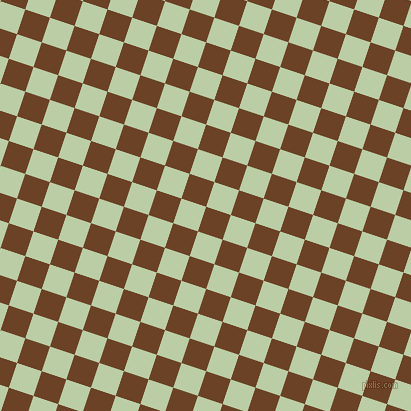 72/162 degree angle diagonal checkered chequered squares checker pattern checkers background, 26 pixel squares size, , Semi-Sweet Chocolate and Pixie Green checkers chequered checkered squares seamless tileable
