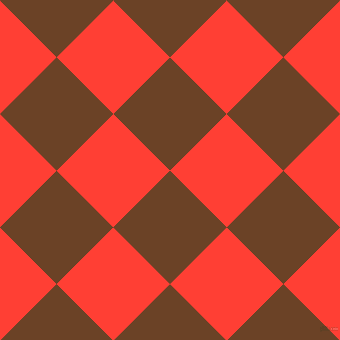 45/135 degree angle diagonal checkered chequered squares checker pattern checkers background, 162 pixel square size, , Semi-Sweet Chocolate and Red Orange checkers chequered checkered squares seamless tileable