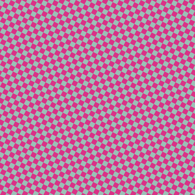 63/153 degree angle diagonal checkered chequered squares checker pattern checkers background, 20 pixel square size, , Shadow Green and Deep Cerise checkers chequered checkered squares seamless tileable