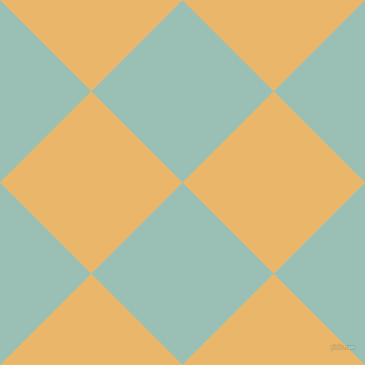 45/135 degree angle diagonal checkered chequered squares checker pattern checkers background, 188 pixel squares size, , Shadow Green and Harvest Gold checkers chequered checkered squares seamless tileable
