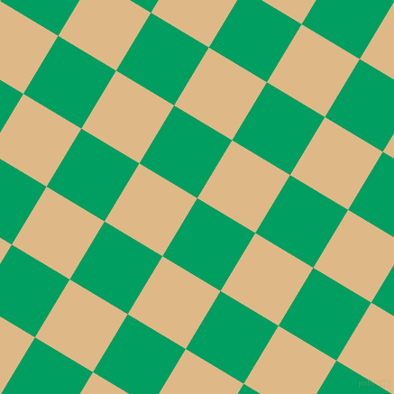 59/149 degree angle diagonal checkered chequered squares checker pattern checkers background, 75 pixel square size, , Shamrock Green and Burly Wood checkers chequered checkered squares seamless tileable