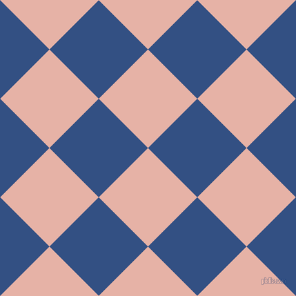 45/135 degree angle diagonal checkered chequered squares checker pattern checkers background, 101 pixel square size, , Shilo and Fun Blue checkers chequered checkered squares seamless tileable