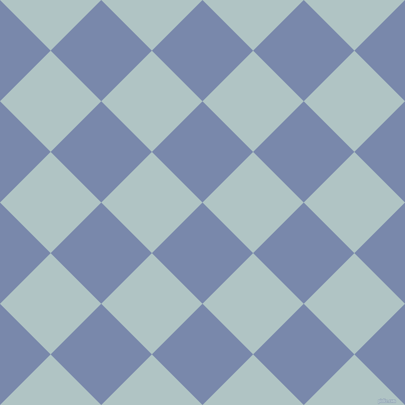 45/135 degree angle diagonal checkered chequered squares checker pattern checkers background, 143 pixel square size, , Ship Cove and Jungle Mist checkers chequered checkered squares seamless tileable