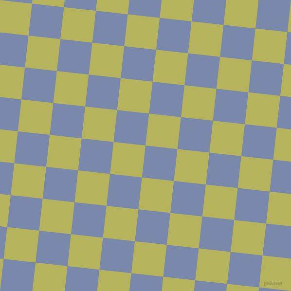 84/174 degree angle diagonal checkered chequered squares checker pattern checkers background, 66 pixel square size, Ship Cove and Olive Green checkers chequered checkered squares seamless tileable