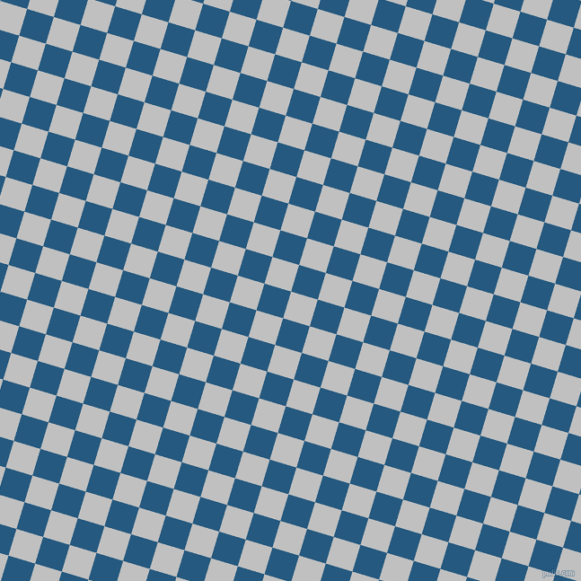 73/163 degree angle diagonal checkered chequered squares checker pattern checkers background, 31 pixel squares size, , Silver and Bahama Blue checkers chequered checkered squares seamless tileable