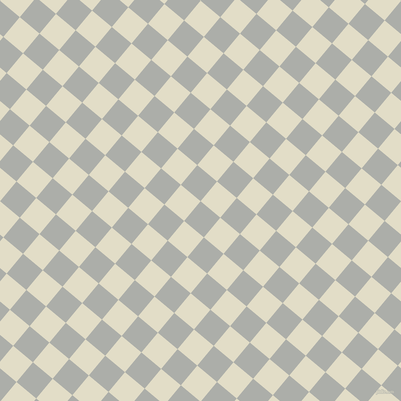 50/140 degree angle diagonal checkered chequered squares checker pattern checkers background, 50 pixel squares size, , Silver Chalice and Travertine checkers chequered checkered squares seamless tileable