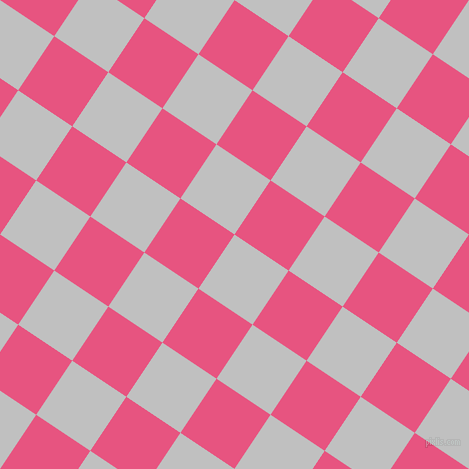 56/146 degree angle diagonal checkered chequered squares checker pattern checkers background, 65 pixel squares size, , Silver and Dark Pink checkers chequered checkered squares seamless tileable