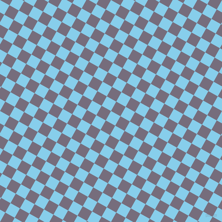 61/151 degree angle diagonal checkered chequered squares checker pattern checkers background, 35 pixel squares size, , Sky Blue and Mamba checkers chequered checkered squares seamless tileable