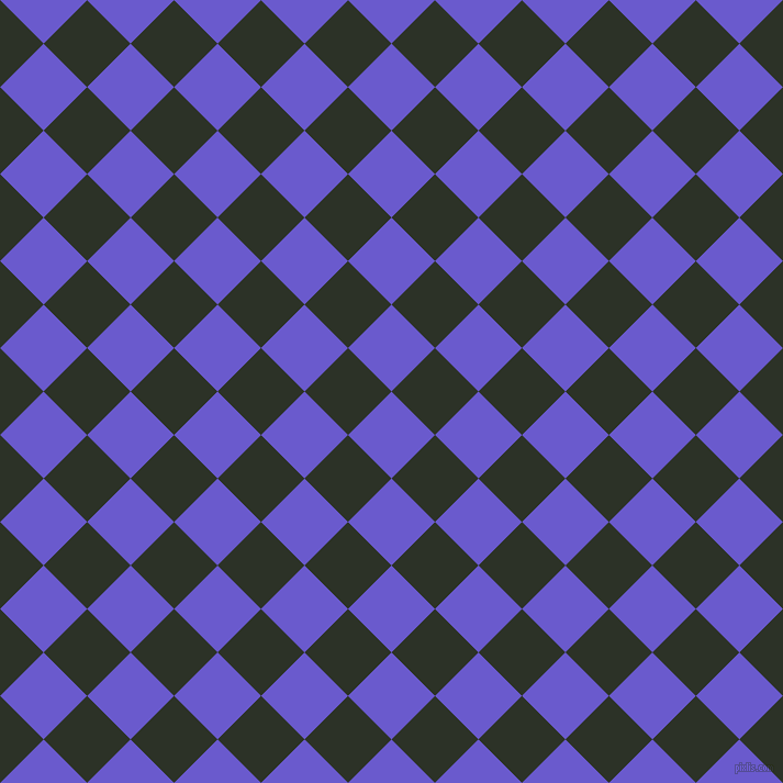 45/135 degree angle diagonal checkered chequered squares checker pattern checkers background, 56 pixel squares size, , Slate Blue and Black Forest checkers chequered checkered squares seamless tileable