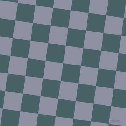 82/172 degree angle diagonal checkered chequered squares checker pattern checkers background, 61 pixel squares size, , Smalt Blue and Manatee checkers chequered checkered squares seamless tileable