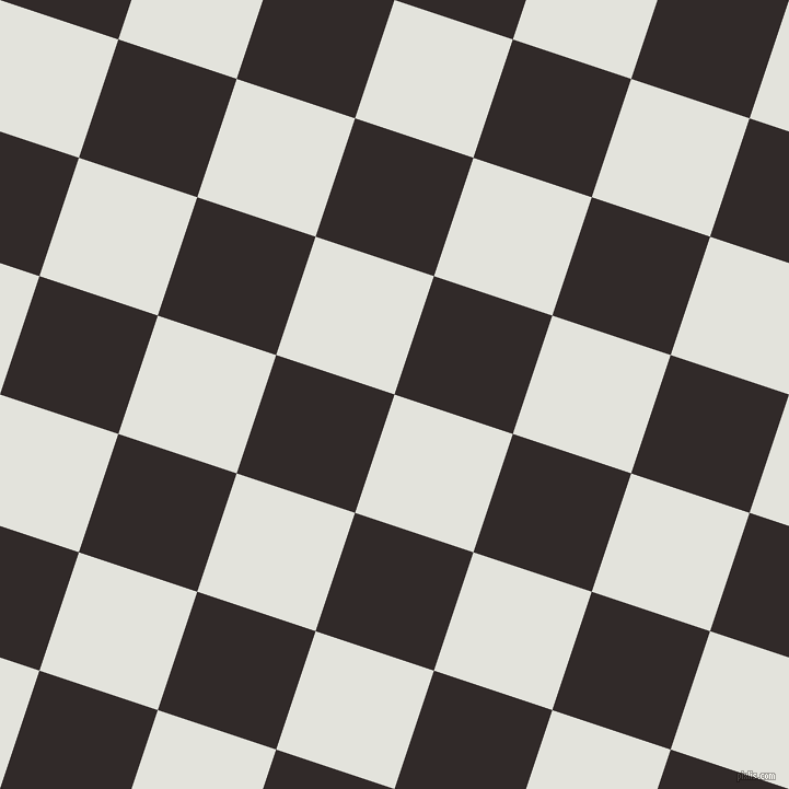 72/162 degree angle diagonal checkered chequered squares checker pattern checkers background, 114 pixel squares size, , Snow Drift and Livid Brown checkers chequered checkered squares seamless tileable