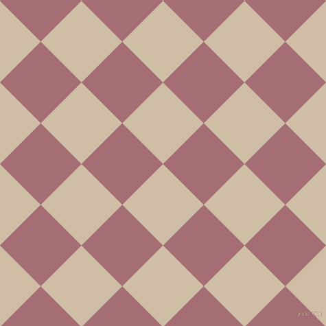 45/135 degree angle diagonal checkered chequered squares checker pattern checkers background, 84 pixel squares size, , Soft Amber and Turkish Rose checkers chequered checkered squares seamless tileable