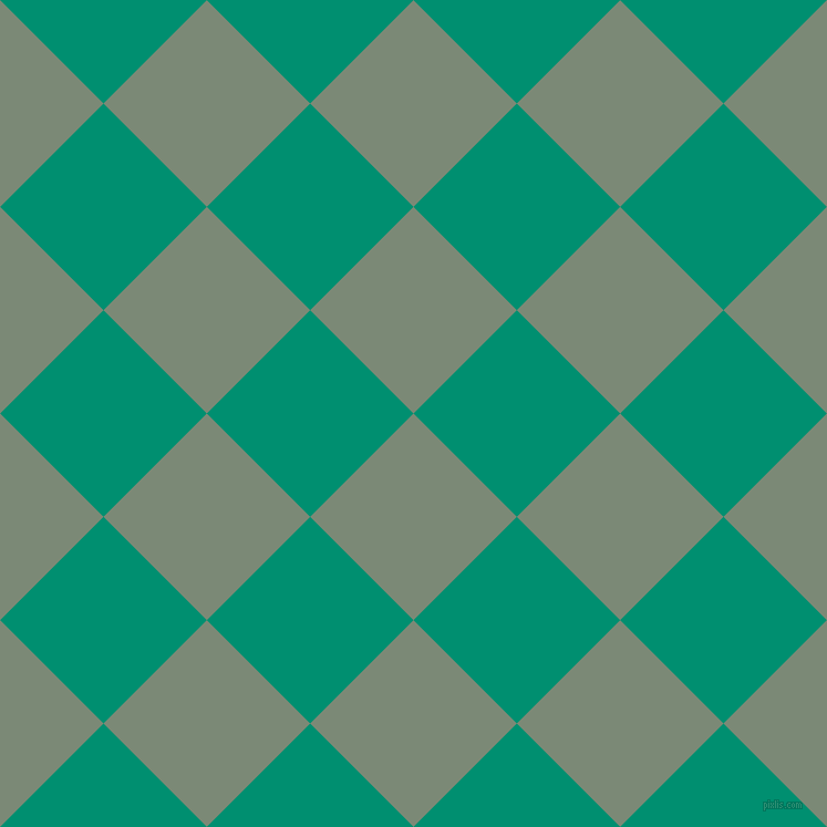 45/135 degree angle diagonal checkered chequered squares checker pattern checkers background, 132 pixel squares size, , Spanish Green and Observatory checkers chequered checkered squares seamless tileable