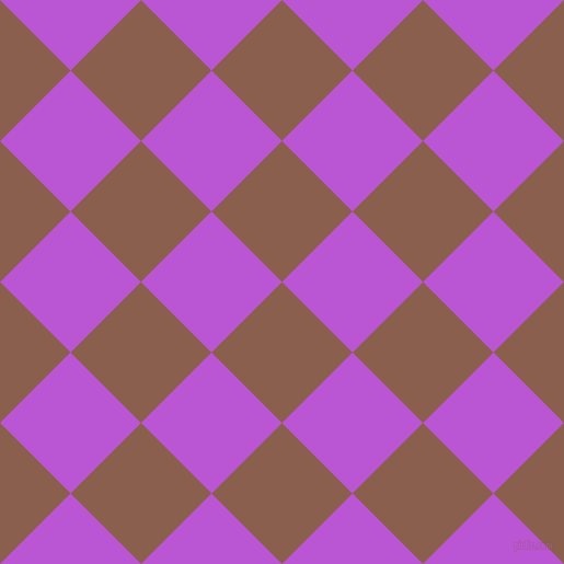 45/135 degree angle diagonal checkered chequered squares checker pattern checkers background, 91 pixel square size, , Spicy Mix and Medium Orchid checkers chequered checkered squares seamless tileable