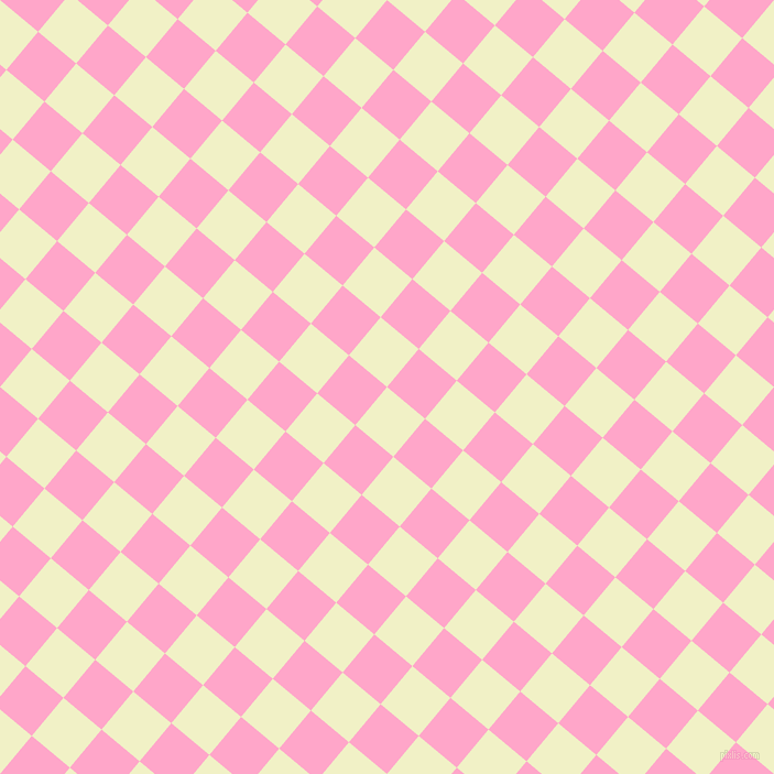 50/140 degree angle diagonal checkered chequered squares checker pattern checkers background, 45 pixel square size, , Spring Sun and Carnation Pink checkers chequered checkered squares seamless tileable