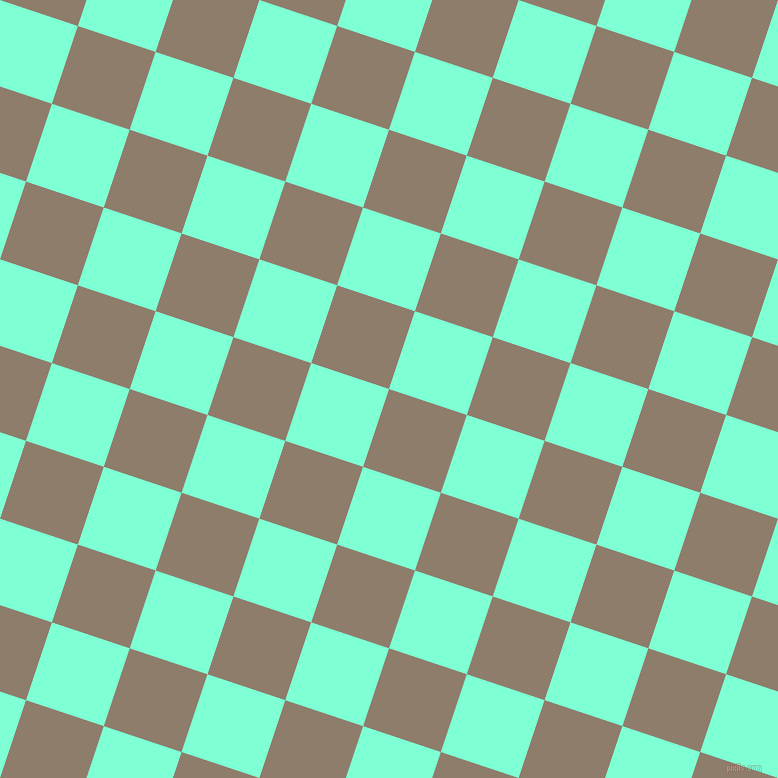 72/162 degree angle diagonal checkered chequered squares checker pattern checkers background, 82 pixel square size, Squirrel and Aquamarine checkers chequered checkered squares seamless tileable