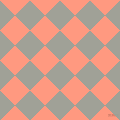 45/135 degree angle diagonal checkered chequered squares checker pattern checkers background, 72 pixel square size, , Star Dust and Vivid Tangerine checkers chequered checkered squares seamless tileable