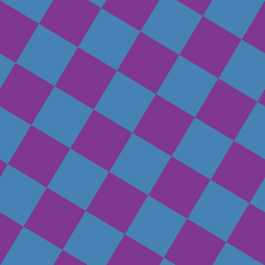 59/149 degree angle diagonal checkered chequered squares checker pattern checkers background, 147 pixel squares size, Steel Blue and Vivid Violet checkers chequered checkered squares seamless tileable