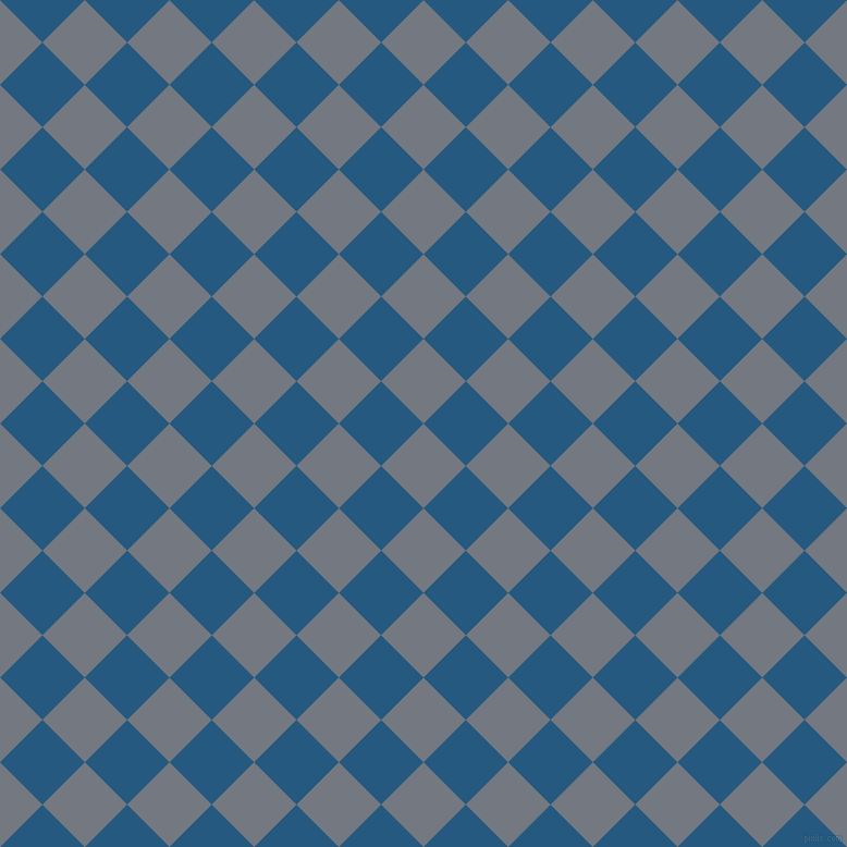 45/135 degree angle diagonal checkered chequered squares checker pattern checkers background, 55 pixel squares size, , Storm Grey and Bahama Blue checkers chequered checkered squares seamless tileable
