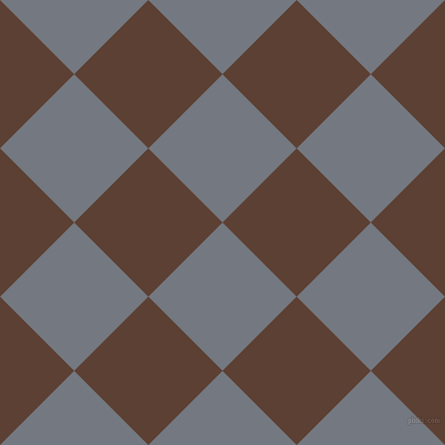 45/135 degree angle diagonal checkered chequered squares checker pattern checkers background, 115 pixel squares size, , Storm Grey and Very Dark Brown checkers chequered checkered squares seamless tileable