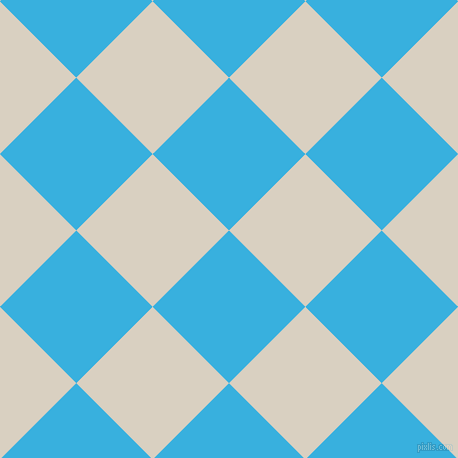45/135 degree angle diagonal checkered chequered squares checker pattern checkers background, 108 pixel square size, Summer Sky and Blanc checkers chequered checkered squares seamless tileable
