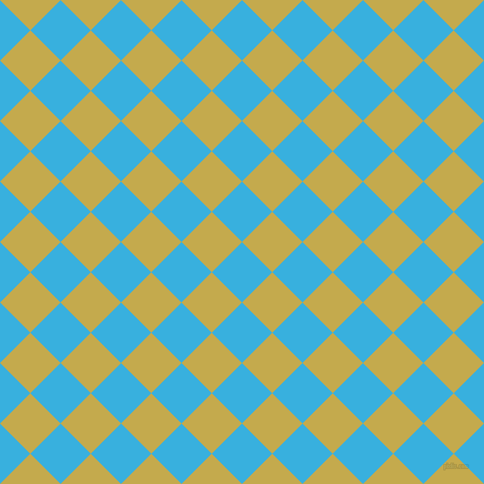 45/135 degree angle diagonal checkered chequered squares checker pattern checkers background, 60 pixel squares size, , Summer Sky and Sundance checkers chequered checkered squares seamless tileable