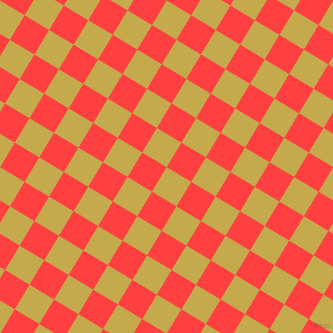 59/149 degree angle diagonal checkered chequered squares checker pattern checkers background, 58 pixel squares size, Sundance and Coral Red checkers chequered checkered squares seamless tileable