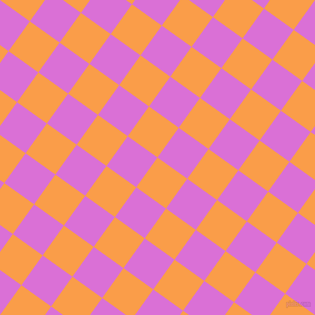 54/144 degree angle diagonal checkered chequered squares checker pattern checkers background, 53 pixel squares size, , Sunshade and Orchid checkers chequered checkered squares seamless tileable