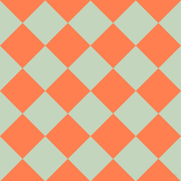 45/135 degree angle diagonal checkered chequered squares checker pattern checkers background, 104 pixel squares size, , Surf Crest and Coral checkers chequered checkered squares seamless tileable