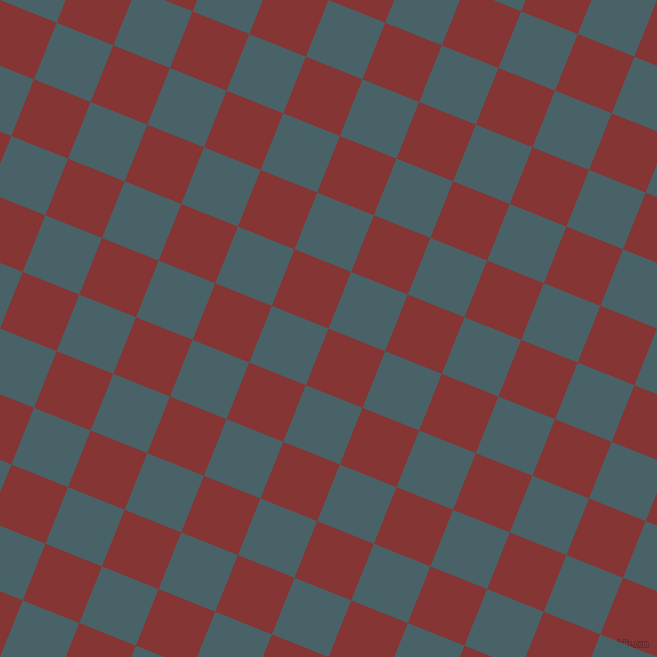 68/158 degree angle diagonal checkered chequered squares checker pattern checkers background, 61 pixel square size, , Tall Poppy and Smalt Blue checkers chequered checkered squares seamless tileable