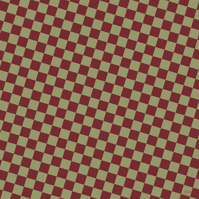 73/163 degree angle diagonal checkered chequered squares checker pattern checkers background, 31 pixel squares size, , Tamarillo and Avocado checkers chequered checkered squares seamless tileable