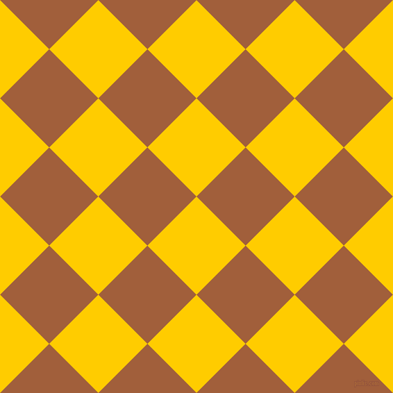 45/135 degree angle diagonal checkered chequered squares checker pattern checkers background, 100 pixel squares size, , Tangerine Yellow and Desert checkers chequered checkered squares seamless tileable