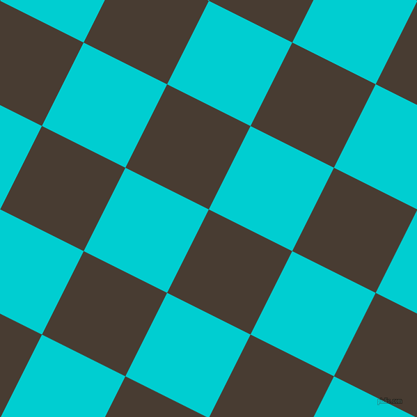 63/153 degree angle diagonal checkered chequered squares checker pattern checkers background, 134 pixel square size, , Taupe and Dark Turquoise checkers chequered checkered squares seamless tileable