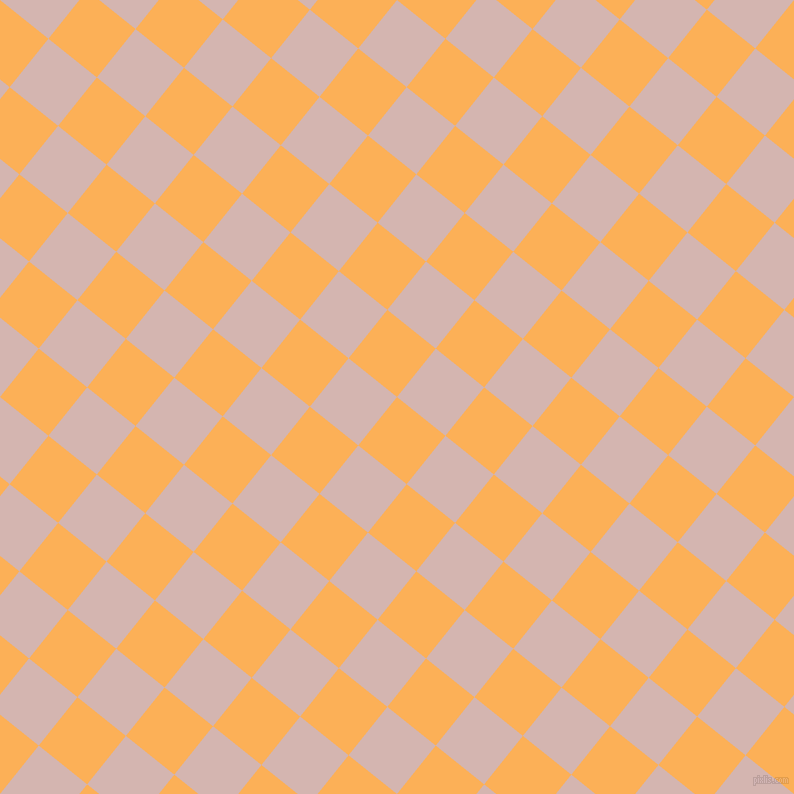 51/141 degree angle diagonal checkered chequered squares checker pattern checkers background, 62 pixel squares size, , Texas Rose and Oyster Pink checkers chequered checkered squares seamless tileable