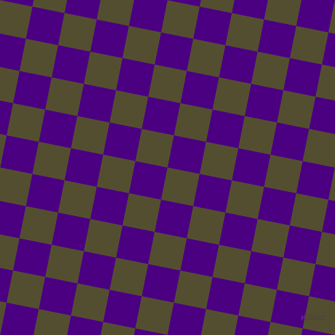 79/169 degree angle diagonal checkered chequered squares checker pattern checkers background, 48 pixel squares size, , Thatch Green and Indigo checkers chequered checkered squares seamless tileable