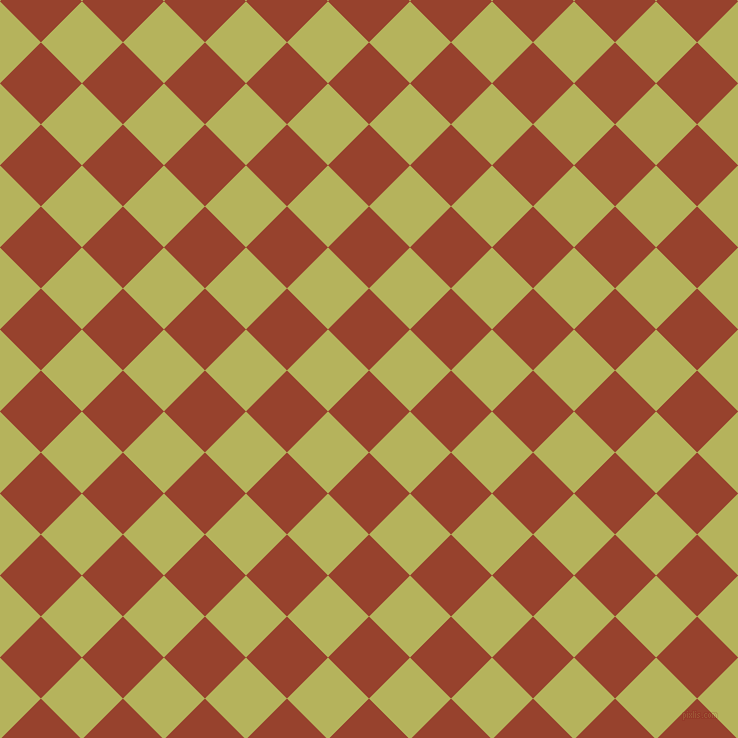 45/135 degree angle diagonal checkered chequered squares checker pattern checkers background, 58 pixel square size, , Tia Maria and Olive Green checkers chequered checkered squares seamless tileable