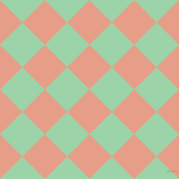 45/135 degree angle diagonal checkered chequered squares checker pattern checkers background, 109 pixel squares size, Tonys Pink and Chinook checkers chequered checkered squares seamless tileable