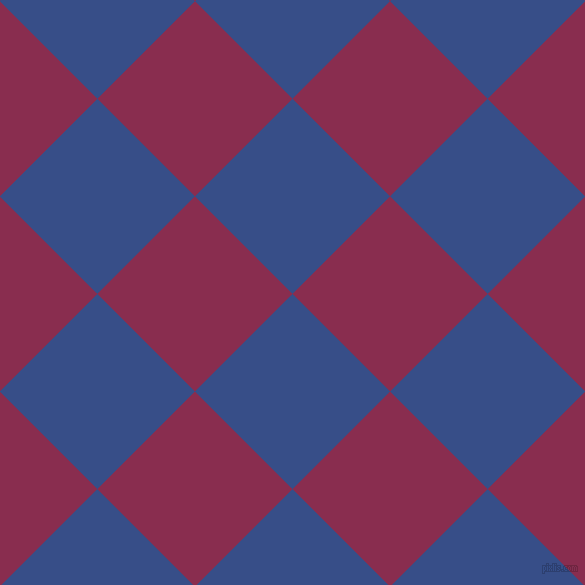 45/135 degree angle diagonal checkered chequered squares checker pattern checkers background, 138 pixel square size, , Tory Blue and Disco checkers chequered checkered squares seamless tileable