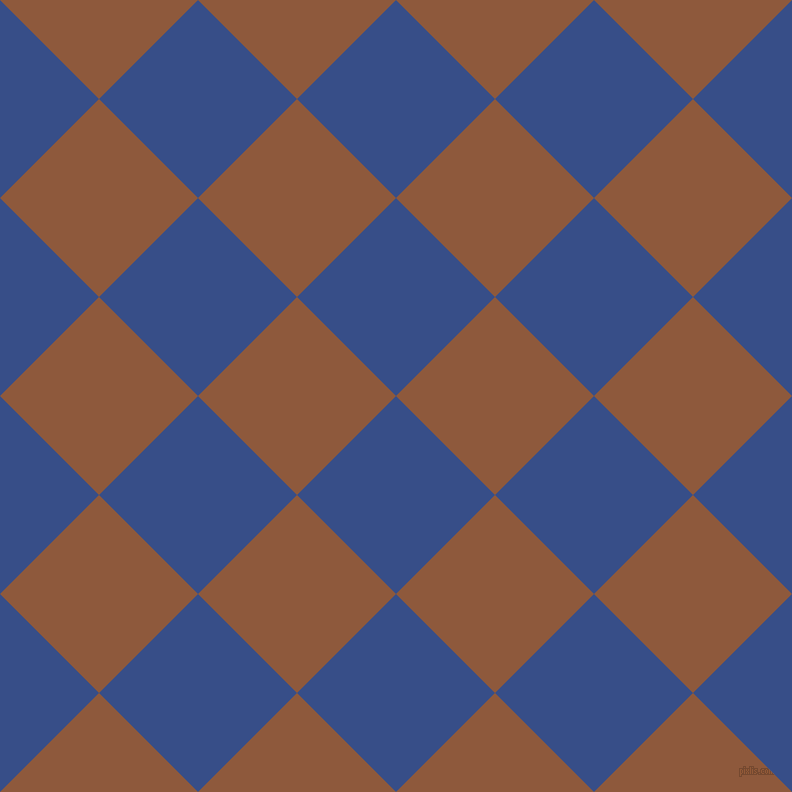 45/135 degree angle diagonal checkered chequered squares checker pattern checkers background, 140 pixel square size, , Tory Blue and Rope checkers chequered checkered squares seamless tileable