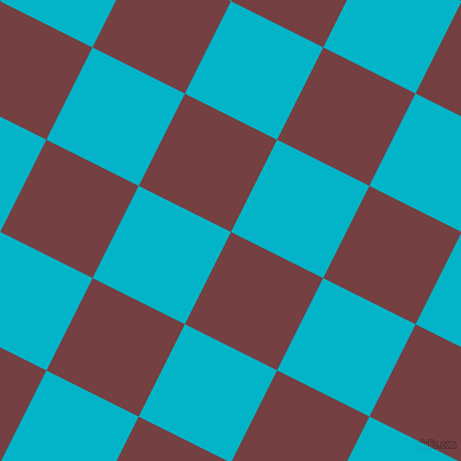 63/153 degree angle diagonal checkered chequered squares checker pattern checkers background, 94 pixel squares size, , Tosca and Iris Blue checkers chequered checkered squares seamless tileable