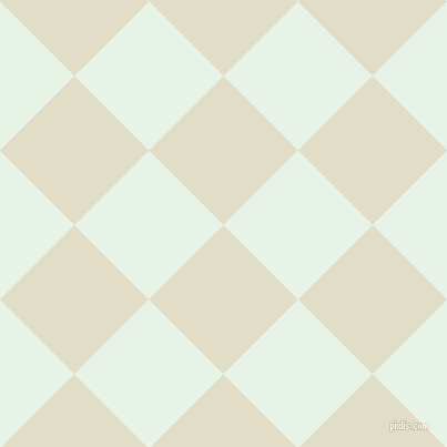 45/135 degree angle diagonal checkered chequered squares checker pattern checkers background, 95 pixel square size, , Travertine and Aqua Spring checkers chequered checkered squares seamless tileable
