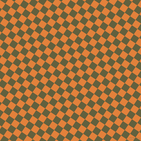 56/146 degree angle diagonal checkered chequered squares checker pattern checkers background, 22 pixel squares size, Tree Poppy and Verdigris checkers chequered checkered squares seamless tileable