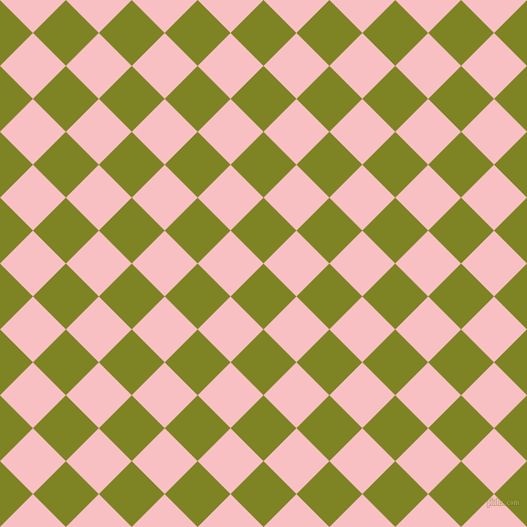 45/135 degree angle diagonal checkered chequered squares checker pattern checkers background, 51 pixel square size, , Trendy Green and Azalea checkers chequered checkered squares seamless tileable