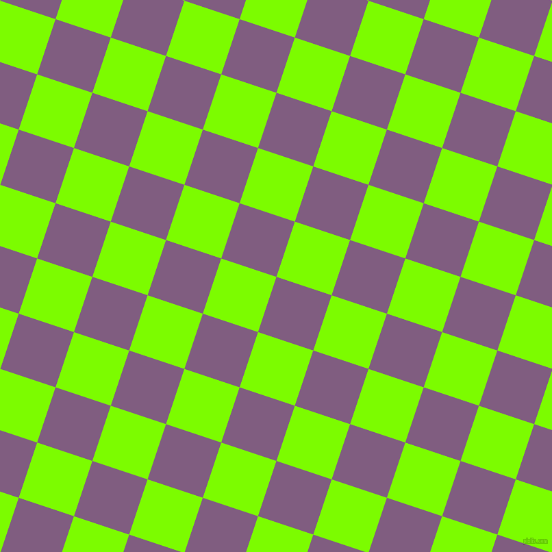 72/162 degree angle diagonal checkered chequered squares checker pattern checkers background, 85 pixel squares size, , Trendy Pink and Lawn Green checkers chequered checkered squares seamless tileable