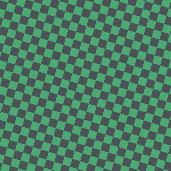 73/163 degree angle diagonal checkered chequered squares checker pattern checkers background, 31 pixel squares size, , Trout and Ocean Green checkers chequered checkered squares seamless tileable