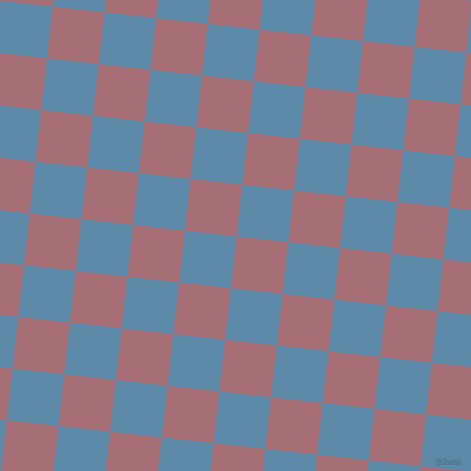 84/174 degree angle diagonal checkered chequered squares checker pattern checkers background, 75 pixel square size, , Turkish Rose and Air Force Blue checkers chequered checkered squares seamless tileable